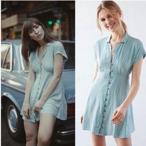 e8218632afb Kimchi Blue Dresses - KIMCHI BLUE LUCY SKY POLKA DOT SHIRT DRESS MED